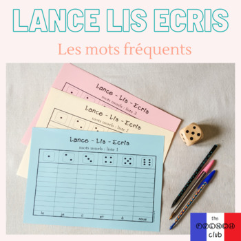 Lance Lis Ecris - mots fréquents *French Sight Words Game*