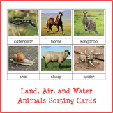 Land, Air and Water Animals Sorting Cards