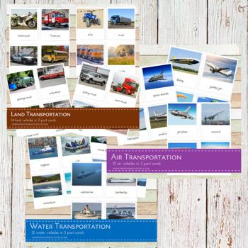 Montessori Land, Air and Water Transportation Bundle Pack