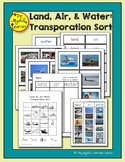 Land, Air, and Water Transportation Sort