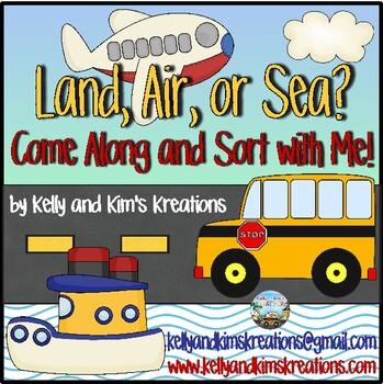 Land Sea Air Transportation Sorting Worksheets & Teaching