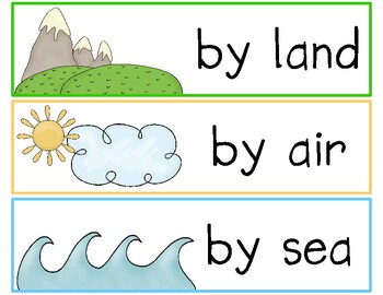 Land, Air, or Sea? Come Along and Sort With Me! (classifying vehicles)