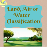 Land, Air or Water Classification Game