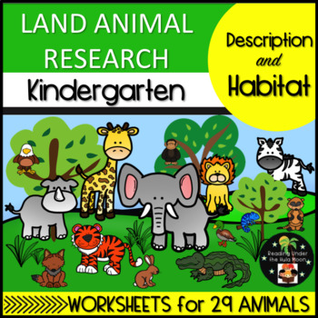 Land Animal Research: Description and Habitat Kindergarten