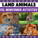 Land Animals ESL Newcomer Activities