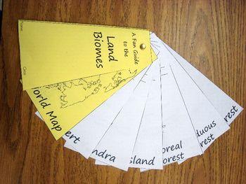 Land Biome Study Aid/Fan Guide Foldable