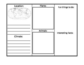 Land Biome Tri-fold Brochure