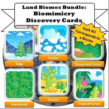 Land Biomes Bundle: All Six Terrestrial Biomimicry Discovery Card Kits