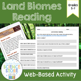 Land Biomes Web-Quest Reading Activity