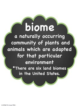 Land Biomes of the United States: Six Reading Passages in BLACK and WHITE