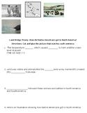Land Bridge Theory Graphic Organizer