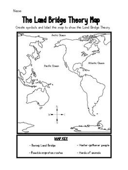 Land Bridge Theory Map