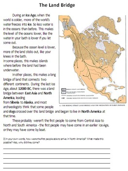 Land Bridge Theory of Migration - Asia to North America