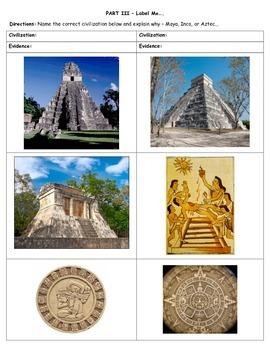Land Bridge and Ancient Civilizations Test & Review Sheet