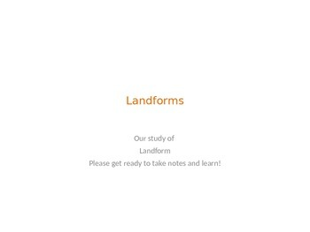 Land Form Power Point