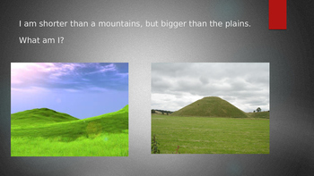 Land Form interactive lesson PowerPoint