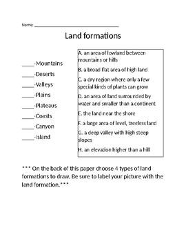 Land Formation Quiz
