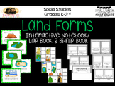 Land Forms Interactive Layered Flip Book with Sorting Cards and Anchor Charts