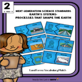 Land Forms: Vocabulary Puzzle Match (NGSS 2-ESS2-2)