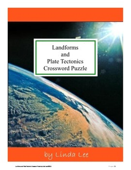 Landforms and Plate Tectonics Vocabulary Crossword Puzzle FREE