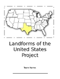 Land Forms of the United States Project
