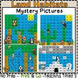 Land Habitats Hundreds Charts l SCIENCE l MATH CENTERS