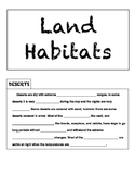 Land Habitats Tab Mini-Book