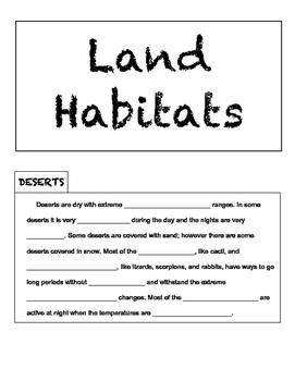Land Habitats Tab Mini-Book
