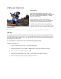Land Mines Activity