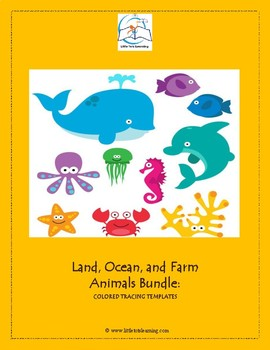 Animal Templates - Land, Ocean, & Farm