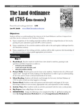 Land Ordinance of 1785 Teacher Guide