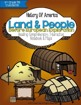 Land & People Before European Exploration{TN 4th Grade Social Studies Standards}