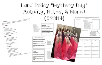 """SS8H4 Land Policy """"Mystery Bag"""" Activity, Notes, & More!"""