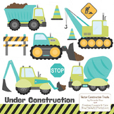 Land & Sea Construction Clipart & Vectors