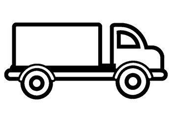 Land Transport Vehicles Coloring Sheets with thick outlines for younger kids