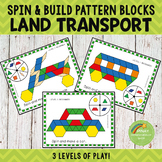 Land Transportation Pattern Blocks Spin and Build