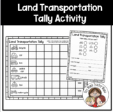 Land Transportation Tally Activity with Data Interpretation Page