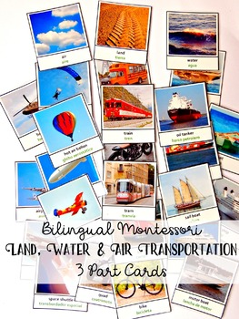Bilingual Land Water Air Transportation English-Spanish