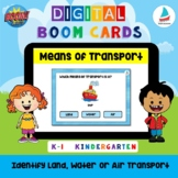 Land Water Air Transportation | Vehicles | kindergarten K-