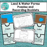 Land & Water Forms Puzzles and Recording Booklet