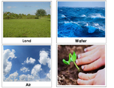 Land, air and water Montessori lesson - classification cards