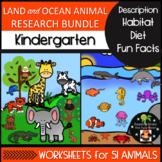 Kindergarten Animal Research Bundle - Description Habitat
