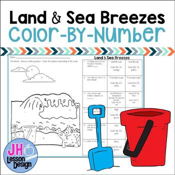Land and Sea Breezes: Color-By-Number