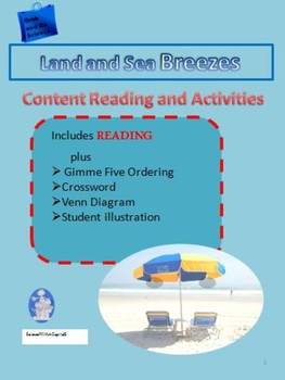 Land and Sea Breezes Content Reading with Activities