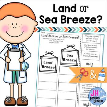 Land and Sea Breezes: Cut and Paste Sorting Activity