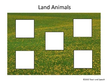 Land and Water Animals Sort