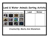 Land and Water Animals Sorting Activity