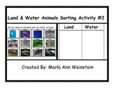 Land and Water Animals Sorting Activity #2