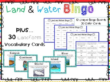 Land and Water Bingo (Landforms)