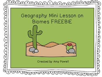 Land and Water Biomes Flap Book - FREEBIE